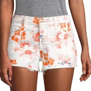 7 For All Mankind floral shorts